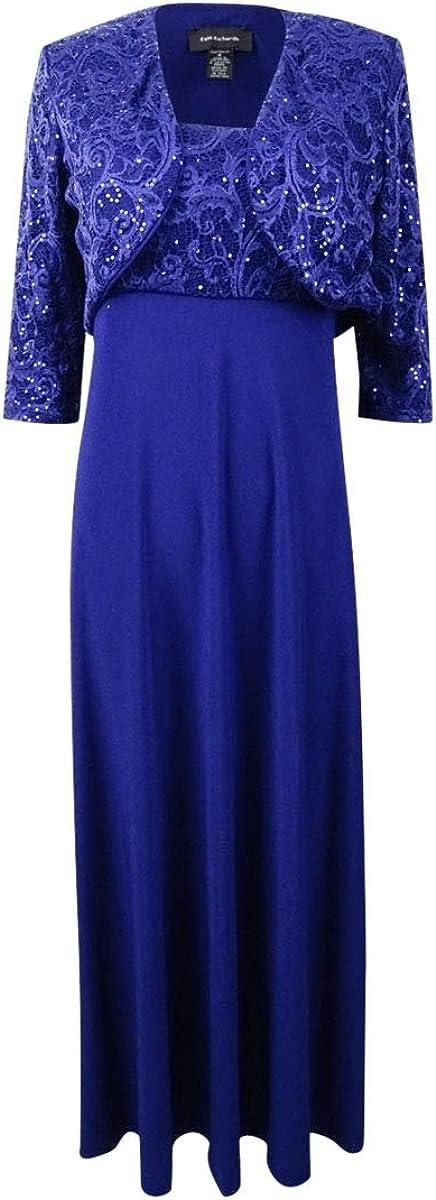 R&M Richards Women's Two Piece Sequins Jacket Dress