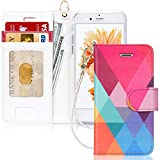 FYY Luxury PU Leather Wallet Case for iPhone 6/6s, [Kickstand Feature] Flip Phone Case Protective Shockproof Folio Cover with [Card Holder] [Wrist Strap] for Apple iPhone 6/6s 4.7' Colorful