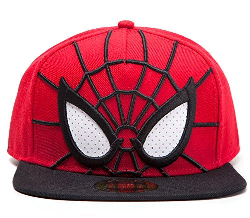 for-collectors-only Spider-Man Cap 3D Snapback with Mesh Eyes Mütze Marvel Comics Schirmmütze The Amazing Spiderman