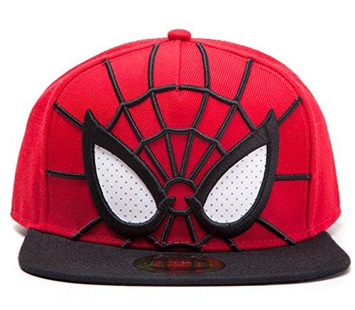 Spider-Man Cap 3d Snapback with Malla Eyes Gorro Marvel Comics pantalla Gorro...