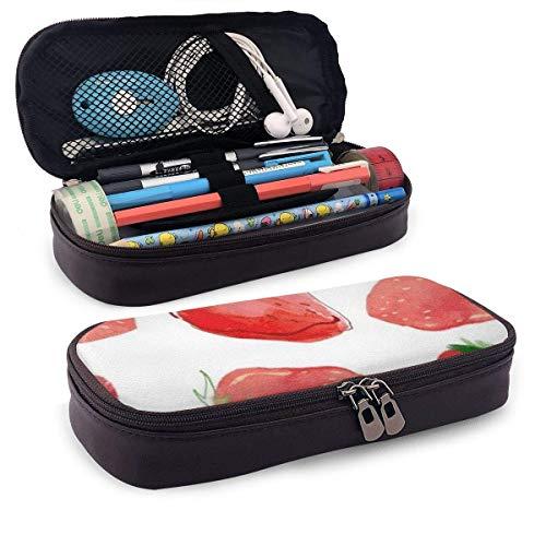 XCNGG Estuche para lápices neceser Strawberries PU Leather...