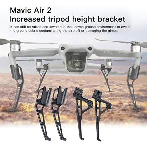 DJFEI Fahrwerk Landefüße für DJI Mavic Air 2 Drone, 4 Stück Extended Landing Gear Bein für DJI Mavic Air 2, Antikollision Skid