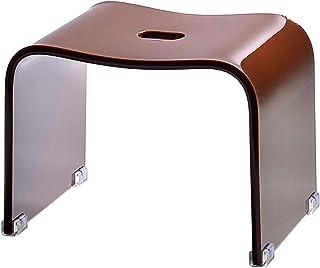 クーアイ(Kuai) アクリル バスチェア 風呂椅子 単品 Mサイズ 高さ25cm モダンシリーズ (ブラウン)