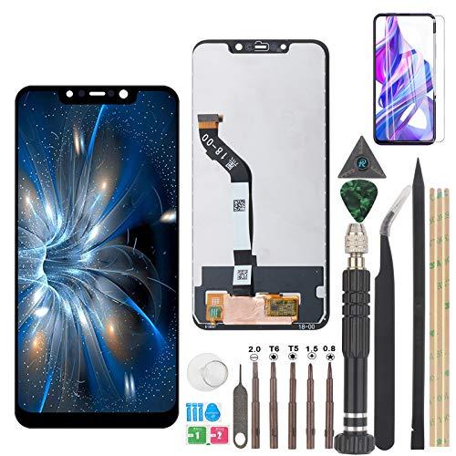 YWL-OU Ersatz des Bildschirms für Xiaomi Pocophone F1 LCD-Touchscreen-Digitalisierer mit Einer Reihe praktischer Werkzeuge (Schwarz)