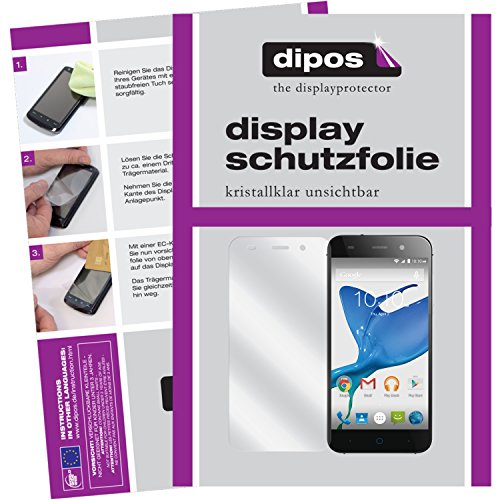 dipos I 2X Schutzfolie klar kompatibel mit ZTE Blade V6 Folie Bildschirmschutzfolie
