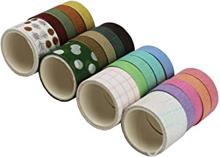 Washi Tape/Sticker Set of 20 Rolls Decorative Masking Tape Sets Wishy Tape for Notebooks, Journals, Scrapbooks, Daily Planners, Card Making, Desk, Phone DIY Decoration (Mixed Color)