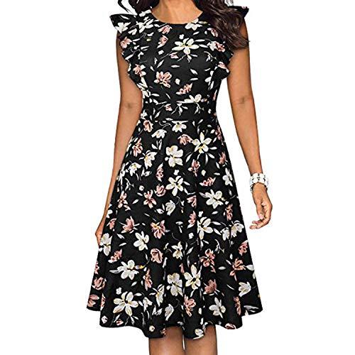 Negro Casual Vestido De Verano Mujer De Impresión Vestidos De Verano Y Sundresses Sin Mangas De Fiesta Mini Club Vestido De Playa