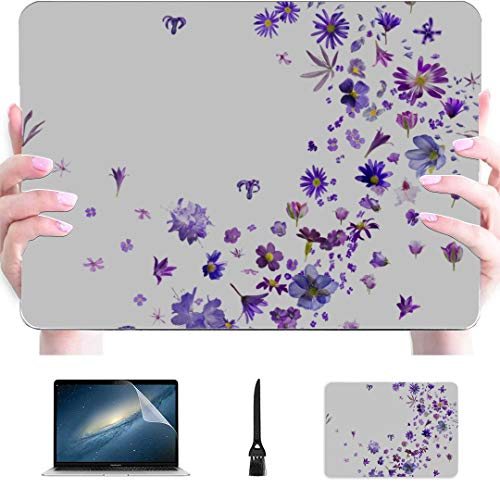 MacBook Pro Accessories Agapanthus Hyacinths and Butterflies Plastic Hard Shell Compatible Mac Air 13' Pro 13'/16' MacBook 13 Case Protective Cover for MacBook 2016-2020 Version