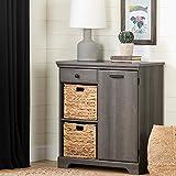 South Shore Versa 1-Door Storage Cabinet-Gray Maple