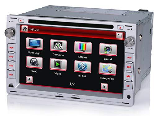 iFreGo 7 Zoll 2 Din Autoradio,Für VW Touran Golf Tiguan Passat B6, GPS Navigation DVD MP3,Autoradio mit Bluetooth freisprecheinrichtung, unterstützt Lenkradsteuerung