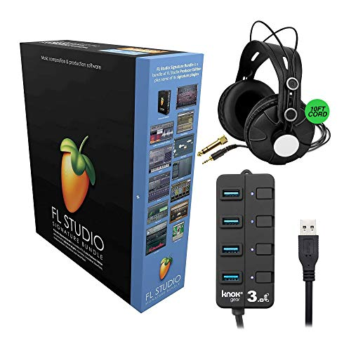 FL Studio 20 - Signature Edition (Boxed) Bundle with Knox Gear Closed-Back Monitoring...