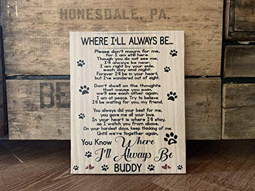 Dog Memorial Personalized Canvas, Remembering A Man's Best Friend, Personalize With Pet Name