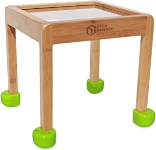 Sponsored Ad - Little Balance Box 2-in-1: No Wheels Spring Feet, Girl Boy Baby Walker Push Stand Toys, Toddler Activity Ta...