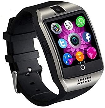 Smart Watch SN06 Smartwatch with Touch Screen Camera SIM Card Slot Sport Watch Pedometer Fitness Tracker Smart Watches for Samsung Xiaomi Huawei Motorola Android iPhone for Men Women Kids  Silver