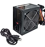 Stability 750-Watt Black Gaming PC 120mm Cooling Fan 4-SATA, ATX 4pin/8pin 12V, Dual 6+2pin Connector (for PCIe Video) Power Supply, PSU Complete with 5-Foot AC Power Cord, Screws, and Cable Ties