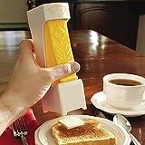 Cortador de mantequilla con un clic, cortador de mantequilla, cortador de mantequilla, cortador de queso, cortador de queso, para almacenar mantequilla para hacer pan, pasteles, galletas Yellow