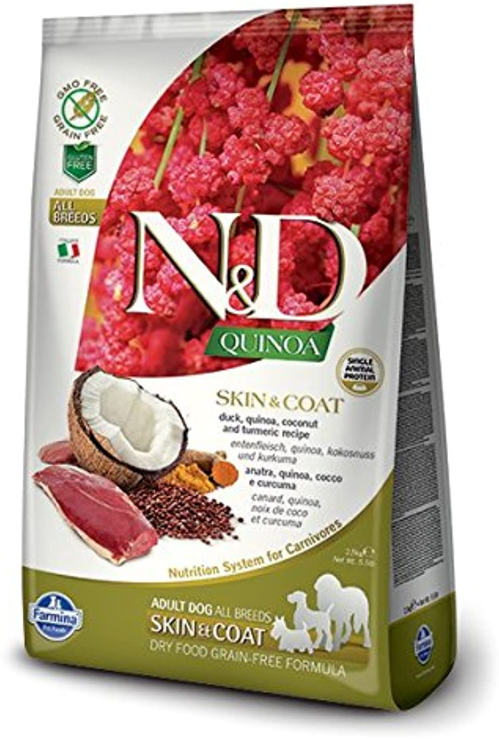 Farmina N&D Functional Quinoa Skin & Coat Duck Dry Dog Food 15.4 Pounds