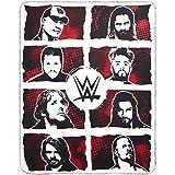 The Silver Buffalo WE121221 WWE Superstar Grid Ink Fleece Throw, 50-in. x60-in.