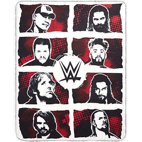 The Silver Buffalo WE121221 WWE Superstar Grid Ink Fleece-Überwurf, 127 x 152 cm