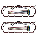 For 98-03 Ford Powerstroke Diesel Valve Cover Gasket Set Ford Powerstroke 7.3L red color f...