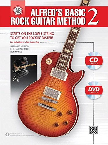 Alfred's Basic Rock Guitar Method 2: Starts on the Low E-Tring to Get You Rockin' Faster! (incl. CD + DVD): Starts on the Low E String to Get You ... CD & DVD (Alfred's Basic Guitar Library)