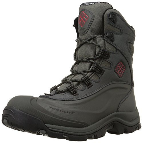 Columbia Men's Bugaboot Plus III Omni Cold Weather Boot, Charcoal/Bright Red, 10.5 D US