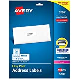 Avery 5260 Address Labels with Sure Feed for Laser Printers, 1' x 2-5/8', 750 Labels