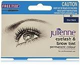 Julienne Mascara permanente per ciglia e sopracciglia, a 2 tonalità in blu e nero, da 15ml