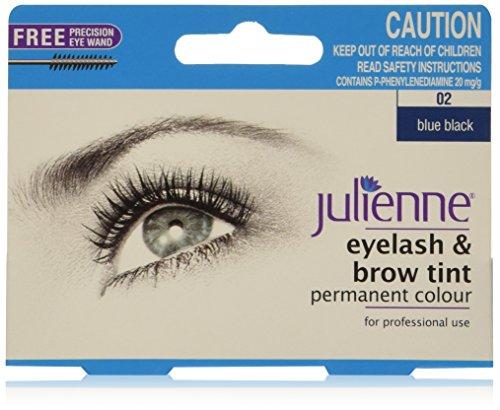 Julienne Pestaña y Ceja Permanente Azul Negro 02 Color Matiz 15ml