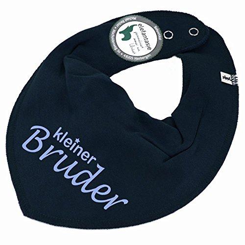 HALSTUCH mit Spruch kleiner Bruder für Baby oder Kind dunkelblau