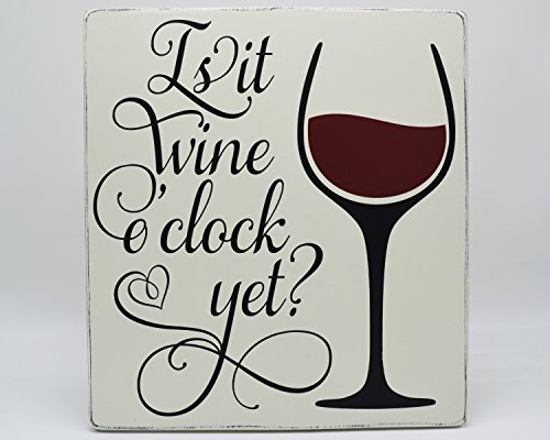 Norma Lily is IT Wine Uhr Noch Rustikal Holz Wein Uhr Schild Fixer Oberen Style Farmhouse Decor Wein Bar Decor Küche Decor Rustikal Holz Schild