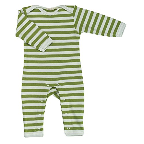 Pigeon-organics For Kids Grenouillère Pyjama Long Rayures Vert 12-18 mois