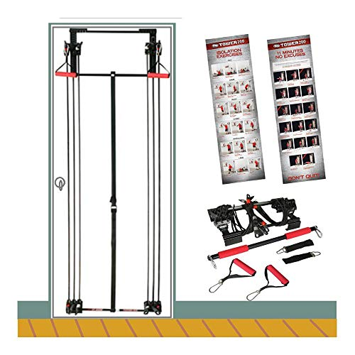 200lb Tower Strength Training Door Gym Full Body Gym Fitness, Exercise & Fitness,Resistance Bands