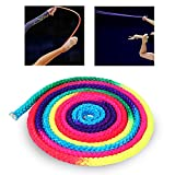 Corda da ginnastica, Corda da allenamento per arti da competizione solida ritmica color arcobaleno, Attrezzatura per lo stretching Ginnastica in nylon, Corda per esercizi con salto per allenamento