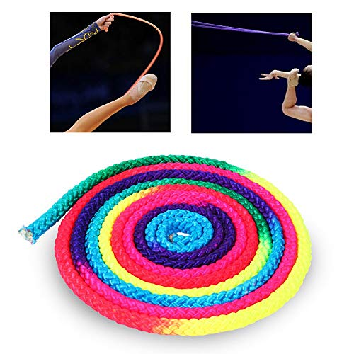 Jump Rope, 2.8M Rainbow Color Gymnastics Rope Wear-Resistant Skipping Rope for Exercise, Workout, Arts Training
