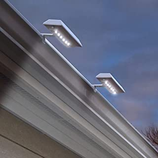 Touch of ECO Solar LED Gutter/Fence Accent Light with Adjustable Mounting Bracket - 2 Pack