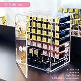 ZHXY Caja de pintalabios Expositor de pintalabios Organizador de Maquillaje acrílico Transparente la Joyería Soporte Exhibición Cosmético Brochas de Maquillaje,L ápices Labiales Cristal apilable