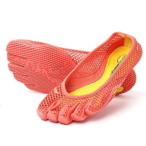 vibram five fingers ビブラム ファイブフィンガーズ 5本指シューズ Women`s Vi-B Red ヴィーブ 室内履き (W40(25.0cm), Red)