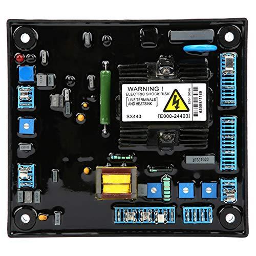 Jeanoko Estabilizador de Voltaje del generador sin escobillas AVR del generador SX440 Ajustable para 50HZ