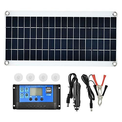 Chenbz Cell Panel Solar, policristalino Cargador de batería Impermeable al Aire Libre 15W Flexible del Panel Solar Controlador con Controlador for el Viaje de Camping