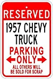 Uptell 1957 57 Chevy Truck Metal Parking Sign - 8 X 12 Inches
