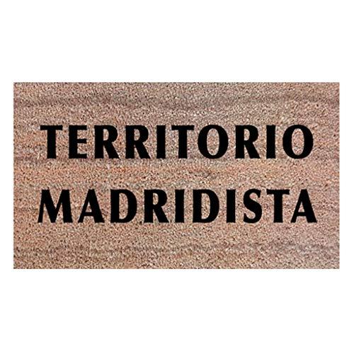 Felpudos Originales Felpudo Madridista. Regalo para Aficionados Real Madrid Frases sobre Fútbol. Idea para Regalar a una Persona Que le guste el fútbol