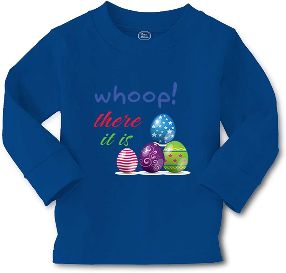 Cute Rascals Kids Long Sleeve T Shirt Whoop! There It is Egg Easter Cotton Boy & Girl Clothes