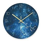 ホームデコレーションクリエイティブパーソナリティウォールクロックJYT、 宇宙の星空の穀物ガラスの壁時計クリエイティブホームリビングルームカフェの壁の装飾29.5×29.5センチ、F ファッション雑貨 (色 : D)