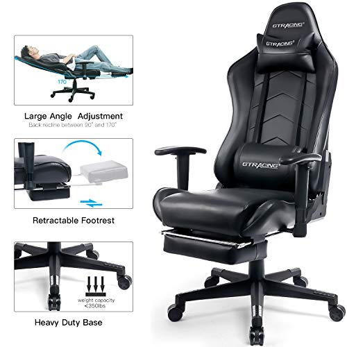 GTRACING Heavy Duty Computer Desk/Gaming Chair