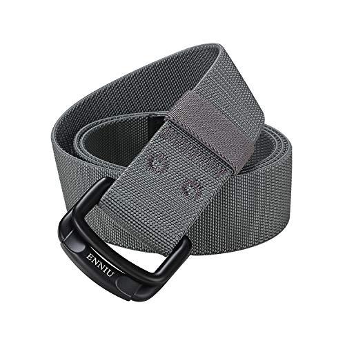 ITIEZY Cintura Militari Tattiche Cintura Elastica Fibbia Metallo D-ring Nylon Unisex Uomo Donna 38mm Casuale Sport