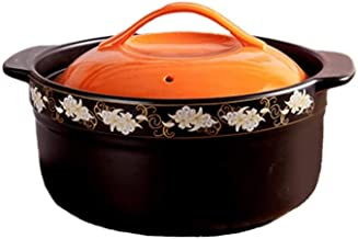 WZWHJ Casserole, non slip and anti scald, the lid has a vent design, high temperature resistance, beautiful and practical