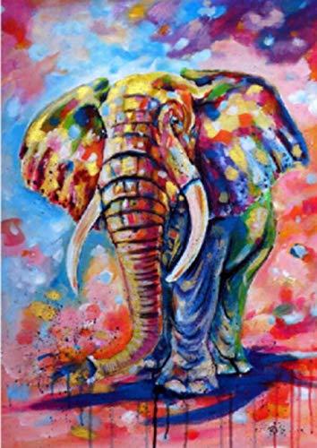 TTDESA Diamond Painting 5D Completo,Elefante -350,Diy 5D Diamond Painting, Decoración Del Hogar Para Salones O Dormitorios 40x50cm