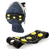 CQ&WL Crampones 5 Stud Cubierta de Zapatos Nieve Escalada en Hielo Puntas Antideslizantes Tacos de Agarre