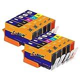 Start - 10 Cartuchos de Tinta Compatible con HP 364XL BK/c/m/y